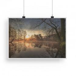 svítání u rybníku